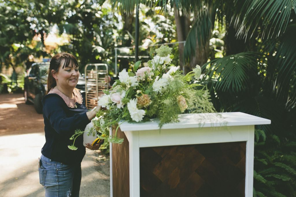 Amy, coordinating the florals for the styled shoot