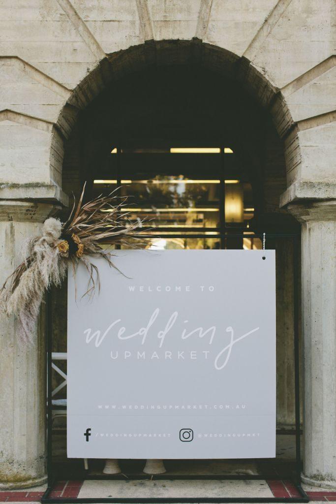 Wedding Upmarket entry sign